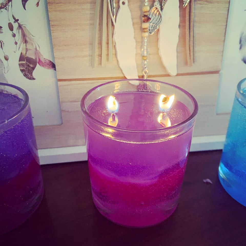 Pink Purple - Coloured Candle - Gelique Candles